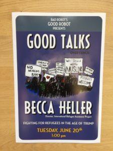 Bad Robot Good Talks poster